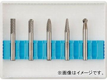 トラスコ中山/TRUSCO 超硬バーセットCシリーズ 軸6mm 刃径6mm TBC0605S(4365593) 入数:1セット(5本入) JAN:4989999239225