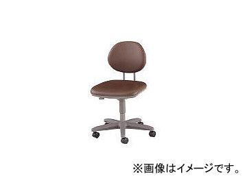 ノーリツイス/NORITSUISU 導電オフィスチェア 導電ビニールレザー 肘なし 黒 TEEL6L BK(4629132)