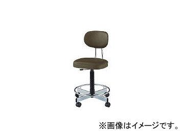 ノーリツイス/NORITSUISU 導電オフィスチェア 導電ビニールレザー 肘なし 黒 TLE17L BK(4629175)
