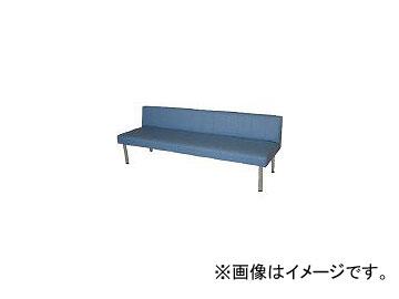 ミズノ/MIZUNO ロビーチェア 背付き 青 MC718 B(4656270)