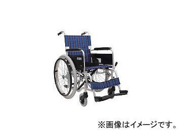 カワムラサイクル/AWAMURA-CYCLE 車椅子 座幅40CM シート色紺チェック KA10240A3(4578619) JAN:4514133005161