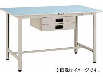 トラスコ中山/TRUSCO BO型軽量作業台 1200X750 薄型2段引出付 BO1275UDK2(4544200)