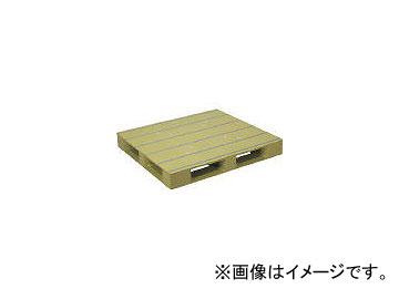 日本プラパレット プラスチックパレットZFD-1212E 片面四方差し ライトグリーン ZFD1212ELG(4533020)
