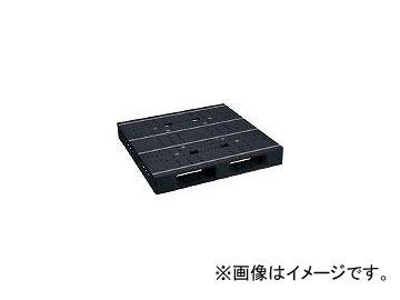 日本プラパレット プラスチックパレットZFD-1111E-RR 片面四方差し 黒 ZFD1111ERRBK(4634993)