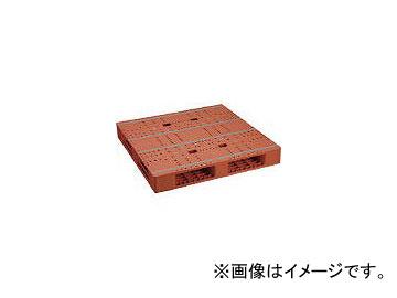 日本プラパレット プラスチックパレットZFR-1111E 両面四方差し ブラウン ZFR1111EBR(4635027)