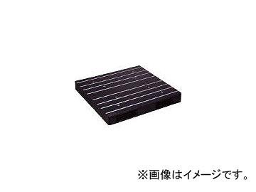 日本プラパレット プラスチックパレットZR-122122WE 両面二方差し 黒 ZR122122WEBK(4635191)