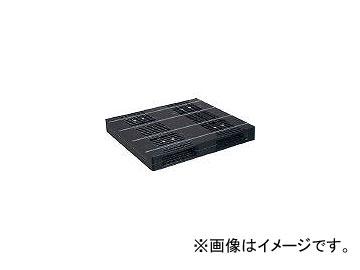 日本プラパレット プラスチックパレットZR-110120E-RR 両面二方差し 黒 ZR110120ERRBK(4635086)