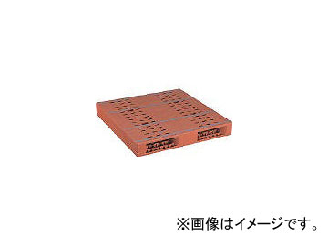 日本プラパレット プラスチックパレットZR-1111E 両面二方差し ブラウン ZR1111EBR(4635124)