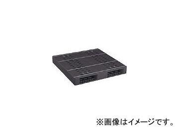 日本プラパレット プラスチックパレットZR-1111E-RR 両面二方差し 黒 ZR1111ERRBK(4635141)