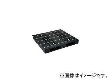 日本プラパレット プラスチックパレットZR-1313E-RR 両面二方差し 黒 ZR1313ERRBK(4635205)
