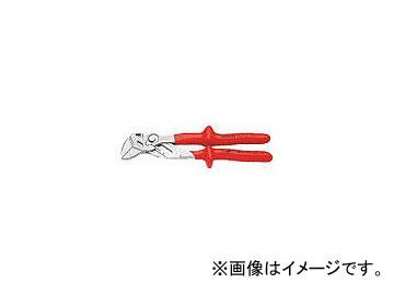 クニペックス 1000V絶縁プライヤーレンチ 250mm 8607-250(4715951) JAN:4003773065067