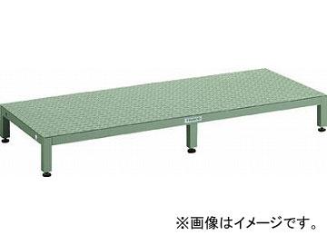 トラスコ中山 高床用縞鋼板ステップ 1500X600XH190~220 UFSH-1560S(4673719) JAN:4989999655193