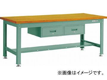 トラスコ中山 DW型作業台 1800X900XH740 2列引出付 DW-1809FL2(4668367) JAN:4989999633641