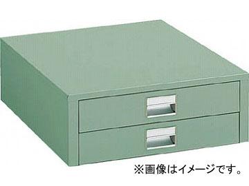 トラスコ中山 UDC型作業台用引出し 薄型2段 グリーン UDC-002(4673514) JAN:4989999646160
