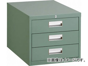 トラスコ中山 作業台用キャビネット 3段 グリーン D-3Z(4668260) JAN:4989999645323