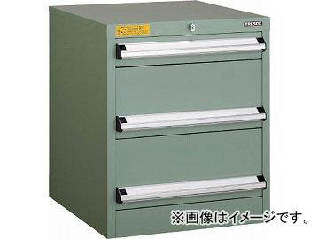 トラスコ中山 VE5S型キャビネット 500X550XH600 引出3段 VE5S-606(4790405)