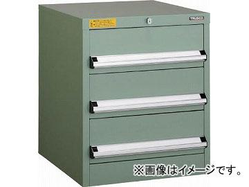 トラスコ中山 VE5S型キャビネット 500X550XH600 引出3段 VE5S-608(4790421)