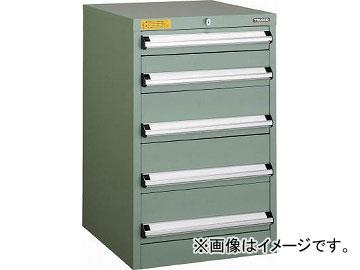 トラスコ中山 VE5S型キャビネット 500X550XH800 引出5段 VE5S-808(4790502)