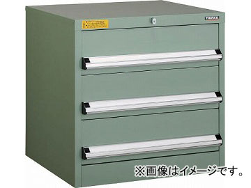 トラスコ中山 VE6S型キャビネット 600X550XH600 引出3段 VE6S-608(4790821)