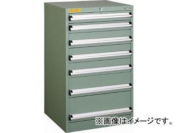トラスコ中山 VE6S型キャビネット 600X550XH1000 引出7段 VE6S-1001(4790511)