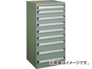 トラスコ中山 VE6S型キャビネット 600X550XH1200 引出9段 VE6S-1202(4790642)