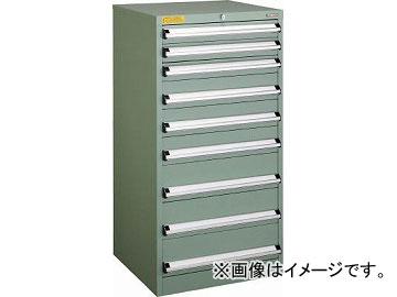 トラスコ中山 VE6S型キャビネット 600X550XH1200 引出9段 VE6S-1207(4790707)