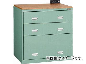 トラスコ中山 TWK型キャビネット 900X650XH920 3段 GN TWK-903S-GN(4910966)