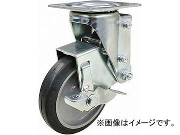 ユーエイ クッションキャスター 125径 自在車 ストッパー付 ゴム車輪 SHSKY-S125NRBDS-30(4703979) JAN:4580322261007