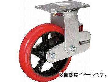 イノアック バネ付き牽引車輪(ウレタン車輪タイプ 自在金具付 φ200) KTU-200WJ-YS(4835166) JAN:4905564411551