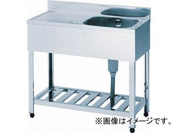 アズマ 一槽水切シンク右水槽 900×450×800 KPM1-900R(4552580) JAN:4560155870393