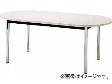 TOKIO ミーティングテーブル 楕円型 1800×1200mm ホワイト TC-1812R-W(4646223) JAN:4942646134014