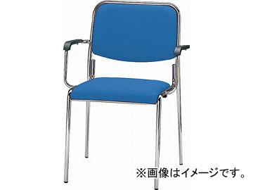 TOKIO ミーティングチェア(スタッキング) 肘付き 布 クリアブルー FSX-4A-CBL(4645961) JAN:4942646025657