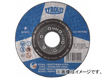 "TYROLIT 切断研削砥石 ""C&G"" 178mm #30 743944(7666420) 入数:25枚"
