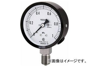 長野 普通形圧力計(A枠立形・φ75・G3/8B・0.0~0.25Mpa) AC20-133-0.25MP(4984421)
