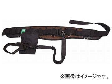 KH フムヘム補助帯付安全帯 じゃばら駕王 剣フック 自在環 黒-茶 HGK-HB(7709447)