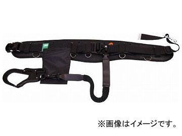 KH フムヘム補助帯付安全帯 じゃばら駕王 剣フック 自在環 アロッキー 黒-黒 HGKL-HK(7709498)