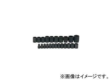 WILLIAMS 1/2ドライブ ショートソケットセット 6角 インパクト JHWMS-4-23RC(7580355) 入数:1セット(23個)