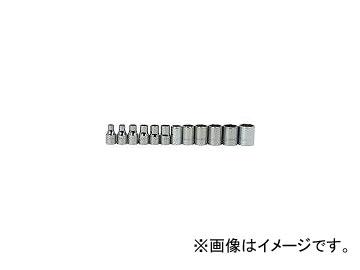WILLIAMS 1/4ドライブ ソケットセット 6角 JHWMSM-12HRC(7580517) 入数:1セット(12個)