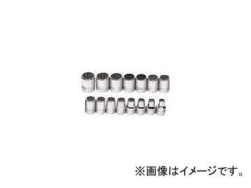 WILLIAMS 1/2ドライブ ソケットセット 12角 JHWMSS-15RC(7580550) 入数:1セット(15個)