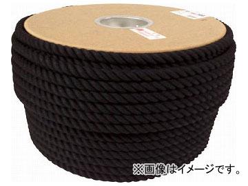 ユタカ ロープ 綿ロープドラム巻 12φ×100m ブラック PRC-61(7684835)