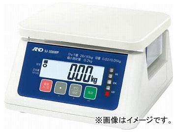 A&D 取引・証明用(検定済品)防塵・防水デジタルはかり SJ30KWP(7565534)