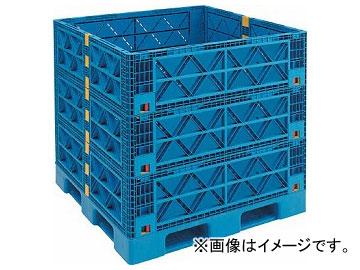 トラスコ中山 マルチステージコンテナ 3段 1100×1100 青 TMSC-S1111-B(7698178)