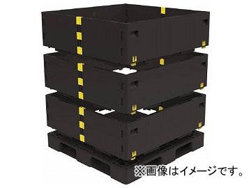 送料無料 トラスコ中山 マルチステージコンテナ 発売モデル 贈物 3段 1100×1100 7698186 TMSC-S1111-BK 黒
