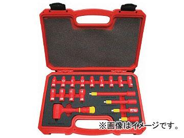 トラスコ中山 絶縁ソケットレンチセット(6角タイプ) 差込角6.35mm TZSW2-18S(7624590)
