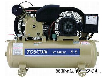 東芝 タンクマウントシリーズ 給油式 コンプレッサ(低圧) VT105-15T(7738595)