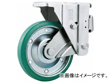 ユーエイ スカイキャスター固定車 200径グリーンゴム車輪 SKY-1R200WF(GR)(8195167)