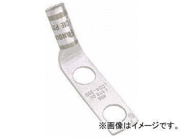 パンドウイット 銅製圧縮端子 標準バレル 2つ穴 90°アングル LCD4-14AF-L(7851316) 入数:1袋(50個)