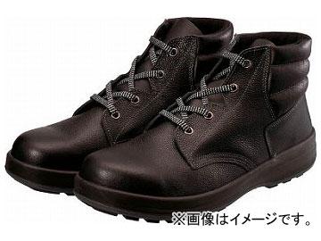 シモン 3層底安全編上靴 WS22BK-25.5(8192405)