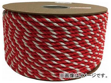 ユタカ アクリル紅白ロープ 9mmm×150m PRZ-55(7948069)