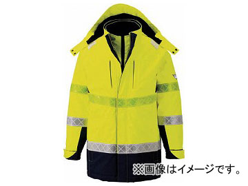 ジーベック 801 高視認防水防寒コート M イエロー 801-80-M(7996357)